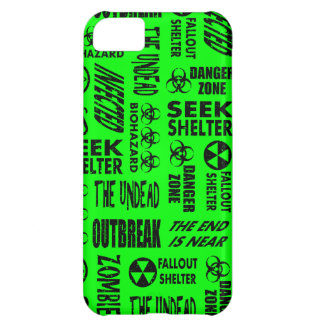 Zombie, Outbreak, Biohazard Black & Neon Green Cover For iPhone 5C