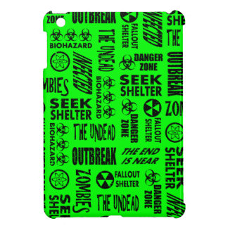 Zombie, Outbreak, Biohazard Black & Neon Green Cover For The iPad Mini