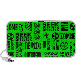 Zombie Outbreak Biohazard Black Neon Green Speaker System