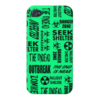 Zombie, Outbreak, Biohazard Black Spring Green Cover For iPhone 4