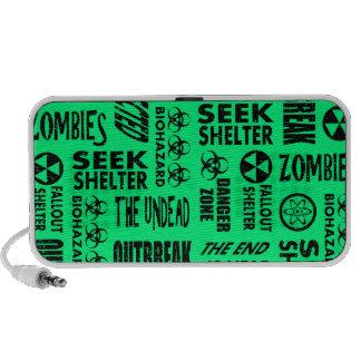 Zombie Outbreak Biohazard Black Spring Green iPhone Speakers