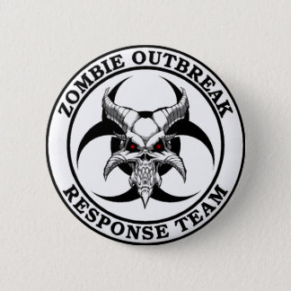 Zombie Outbreak Biohazard Demon 6 Cm Round Badge