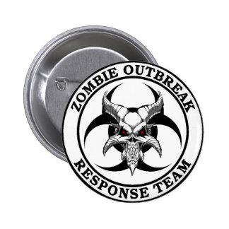 Zombie Outbreak Biohazard Demon 6 Cm Round Badge