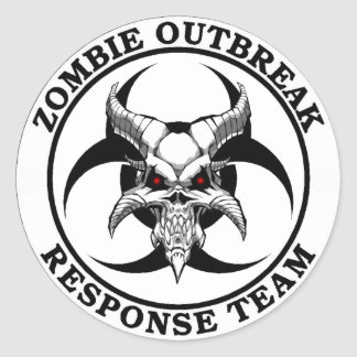 Zombie Outbreak Biohazard Demon Classic Round Sticker