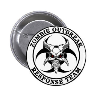 Zombie Outbreak Biohazard Demon Pinback Buttons