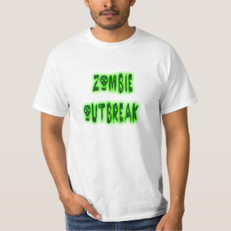 Zombie Outbreak green skulls shirt