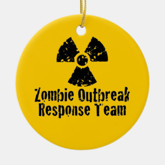 Zombie Outbreak Response Christmas Ornament