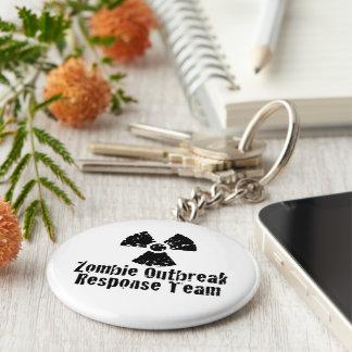 Zombie Outbreak Response Basic Round Button Key Ring