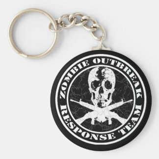 Zombie Outbreak Response Team Basic Round Button Key Ring