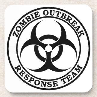 Zombie Outbreak Response Team Biohazard Coaster