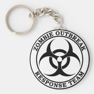 Zombie Outbreak Response Team (Biohazard) Basic Round Button Key Ring