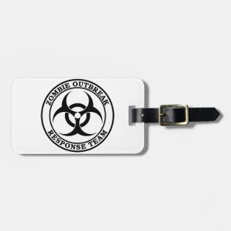 Zombie Outbreak Response Team (Biohazard) Luggage Tag
