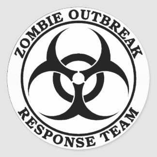 Zombie Outbreak Response Team Biohazard Stickers