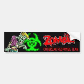 """Zombie Outbreak Response Team"" - Cartoon Zombie Bumper Sticker"