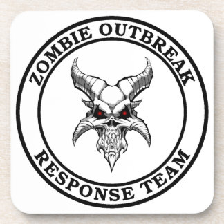 Zombie Outbreak Response Team Demonhead Drink Coaster