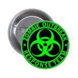 Zombie Outbreak Response Team Neon Green 6 Cm Round Badge