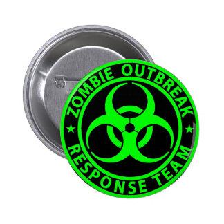 Zombie Outbreak Response Team Neon Green 6 Cm Round Badge