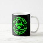Zombie Outbreak Response Team Neon Green Basic White Mug