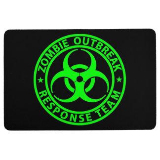 Zombie Outbreak Response Team Neon Green Floor Mat