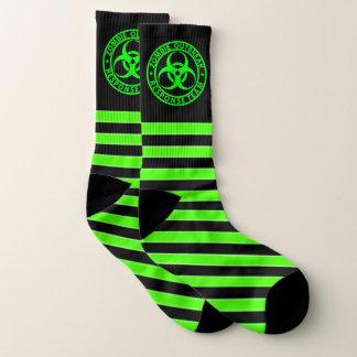 Zombie Outbreak Response Team Neon Green Socks