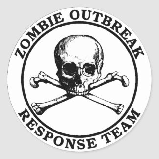 Zombie Outbreak Response Team (Skull Crossbones) Stickers