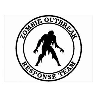 Zombie Outbreak Response Team (Swamp Zombie) Postcard