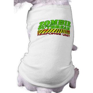 Zombie outbreak response unit sleeveless dog shirt