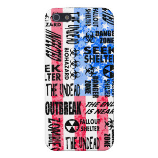 Zombie, Outbreak, Undead, Biohazard American Flag Cover For iPhone 5