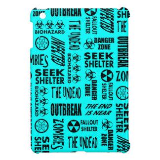 Zombie Outbreak Undead Biohazard Black Aqua Case For The iPad Mini