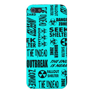 Zombie, Outbreak, Undead, Biohazard Black & Aqua iPhone 5 Covers