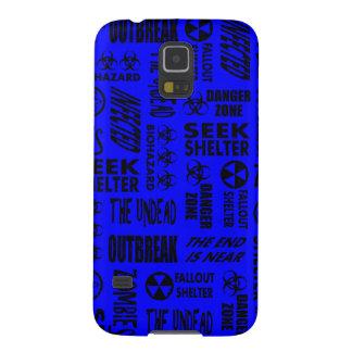Zombie, Outbreak, Undead, Biohazard Black & Blue Galaxy S5 Case