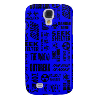 Zombie, Outbreak, Undead, Biohazard Black & Blue Samsung Galaxy S4 Cases