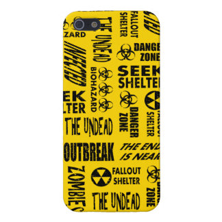 Zombie, Outbreak, Undead, Biohazard Black & Gold iPhone 5 Cover