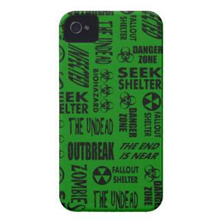 Zombie, Outbreak, Undead, Biohazard Black & Green Case-Mate iPhone 4 Case