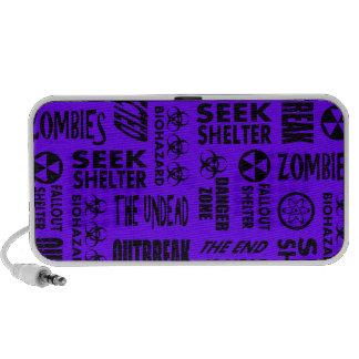Zombie Outbreak Undead Biohazard Black Indigo Laptop Speakers