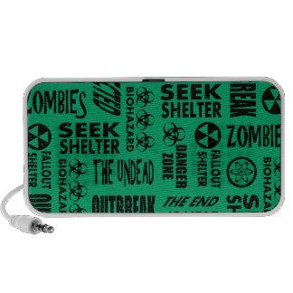 Zombie Outbreak Undead Biohazard Black Jade Portable Speaker