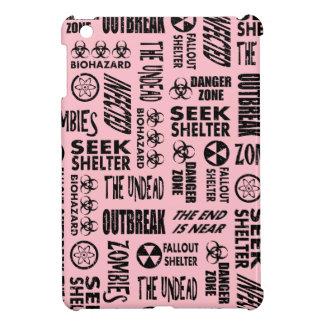 Zombie, Outbreak, Undead, Biohazard Black & Pink Case For The iPad Mini