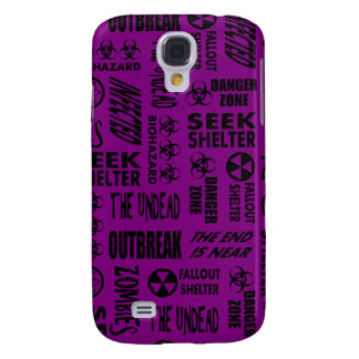 Zombie, Outbreak, Undead, Biohazard Black & Purple Galaxy S4 Cover
