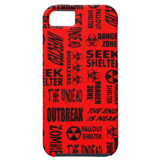 Zombie, Outbreak, Undead, Biohazard Black & Red iPhone 5 Covers