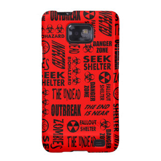 Zombie, Outbreak, Undead, Biohazard Black & Red Samsung Galaxy S2 Cover