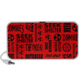 Zombie Outbreak Undead Biohazard Black Red iPhone Speakers