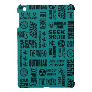 Zombie, Outbreak, Undead, Biohazard Black & Teal iPad Mini Cover