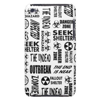 Zombie Outbreak Undead Biohazard Black White Barely There iPod Cover