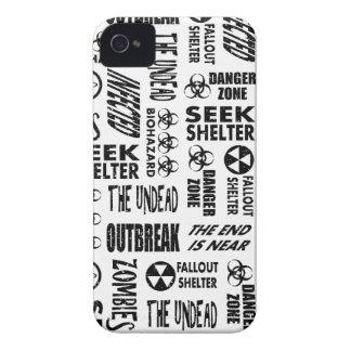 Zombie, Outbreak, Undead, Biohazard Black & White Case-Mate iPhone 4 Cases
