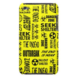 Zombie Outbreak Undead Biohazard Black Yellow iPod Touch Cover