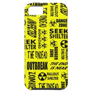 Zombie, Outbreak, Undead, Biohazard Black & Yellow iPhone 5 Case