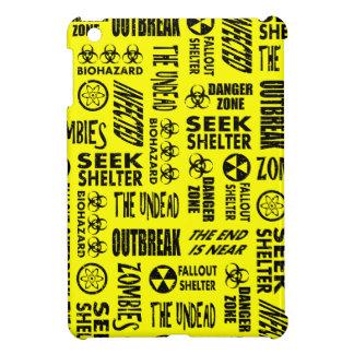 Zombie Outbreak Undead Biohazard Black Yellow iPad Mini Cases