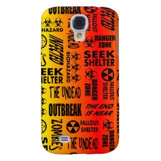 Zombie, Outbreak, Undead, Biohazard Red & Yellow Samsung Galaxy S4 Case