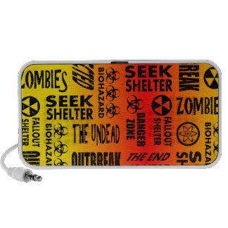 Zombie Outbreak Undead Biohazard Red Yellow Laptop Speakers