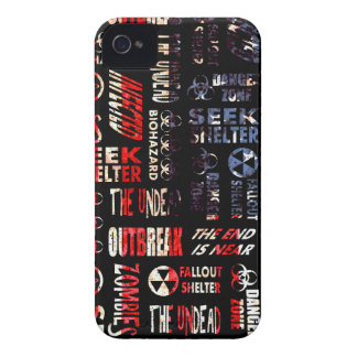 Zombie, Outbreak, Undead, Biohazard U.S.A. Flag iPhone 4 Cover